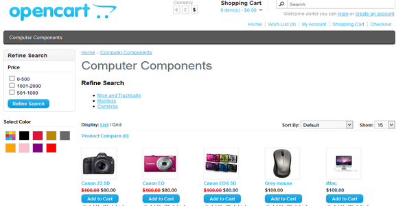 CodeCanyon Color Filter for Opencart 10599290