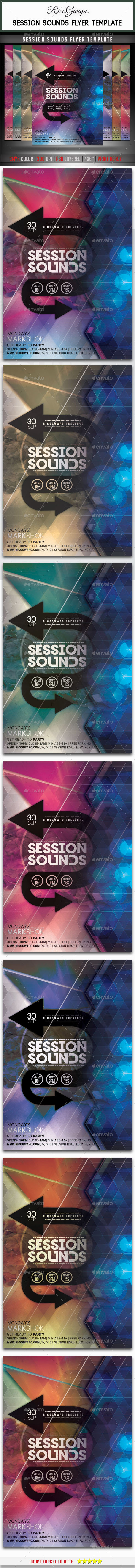 GraphicRiver Session Sounds Flyer Template 10653525