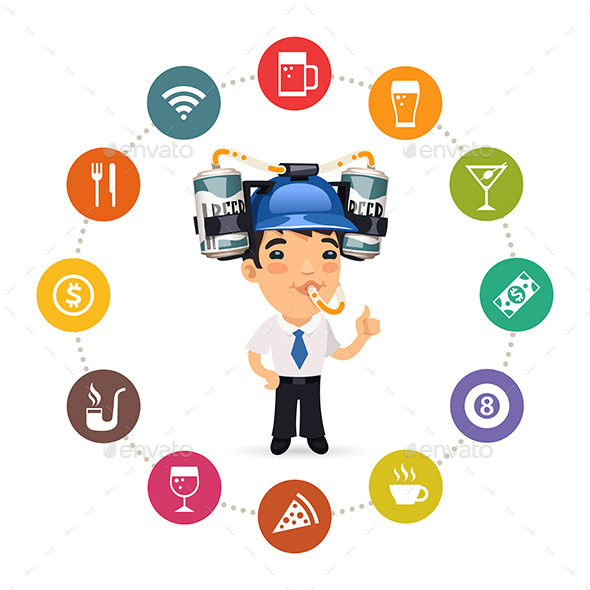GraphicRiver Manager with Blue Beer Helmet 10635999
