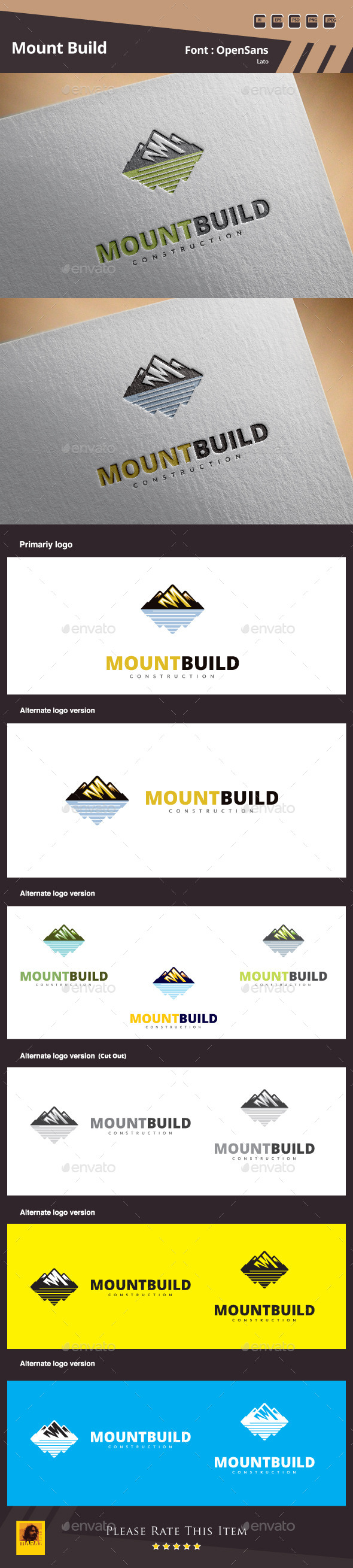 GraphicRiver Mount Build Logo Template 10653890