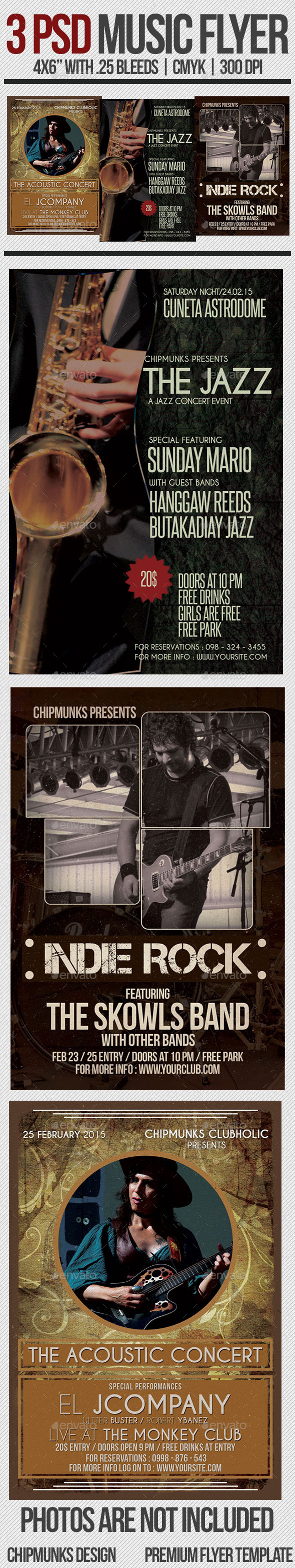 GraphicRiver Music Flyer Bundle 10653930