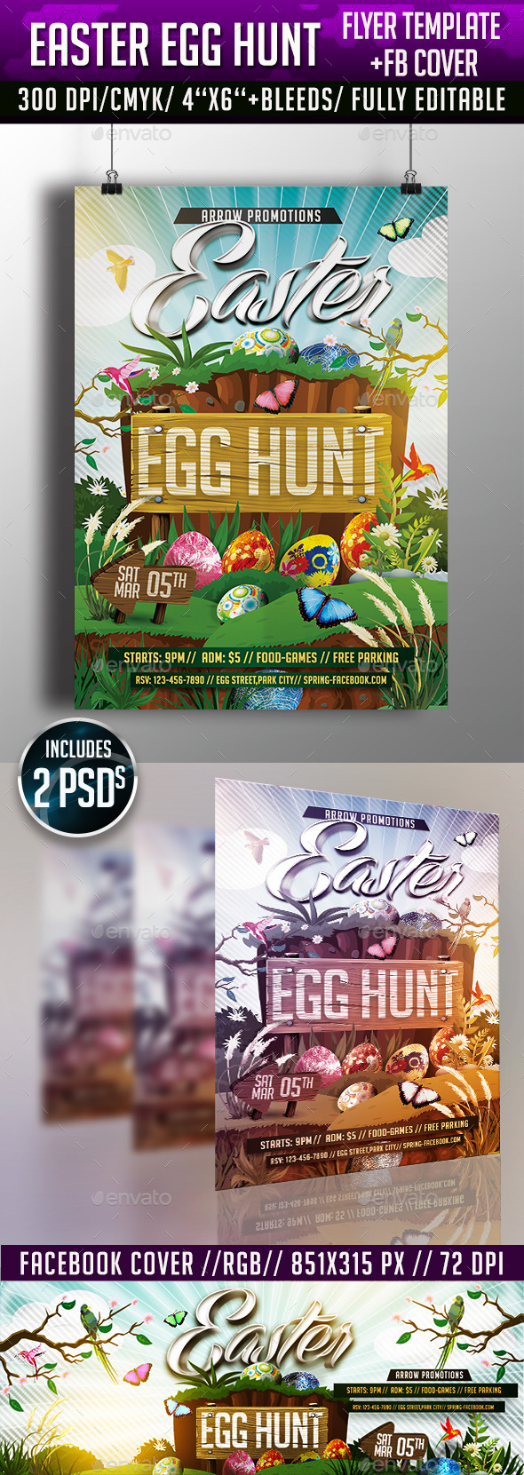 GraphicRiver Easter Egg Hunt Flyer Template 10653963
