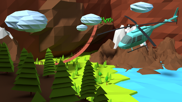 3DOcean Low Poly landscape 10653965