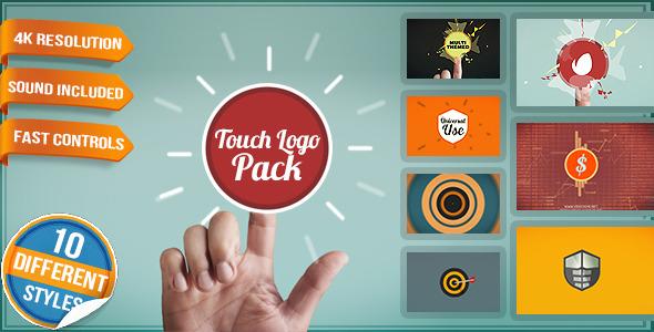 Touch Screen Logo Quick Flat Interactive Media Reveals