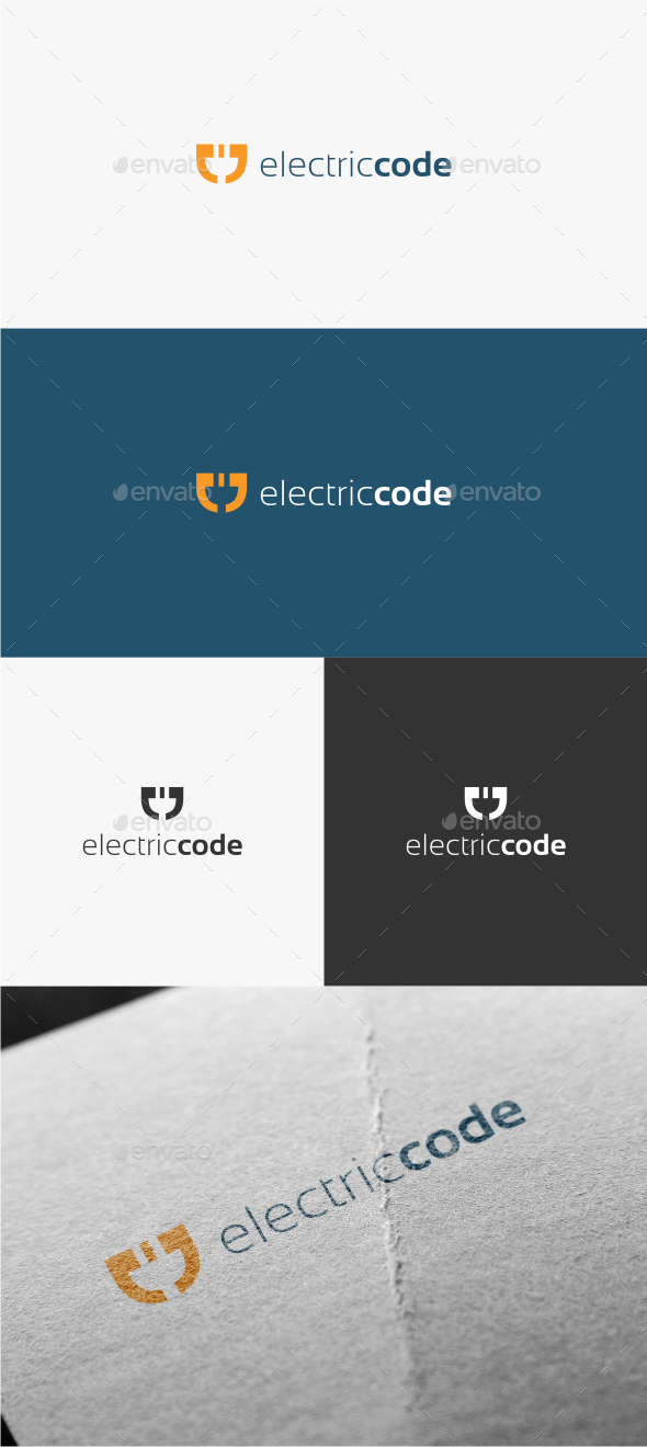 GraphicRiver Electric Code Logo Template 10654206