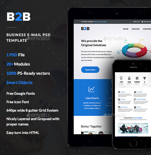 GraphicRiver B2B Business E-newsletter PSD Template 10654212