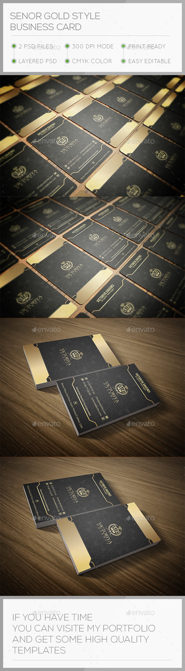 GraphicRiver Senor Gold Style Business Card 10654298