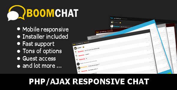 Boomchat - Responsive PHP/AJAX Chat - CodeCanyon Item for Sale