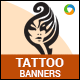 Tattoo Banners - GraphicRiver Item for Sale