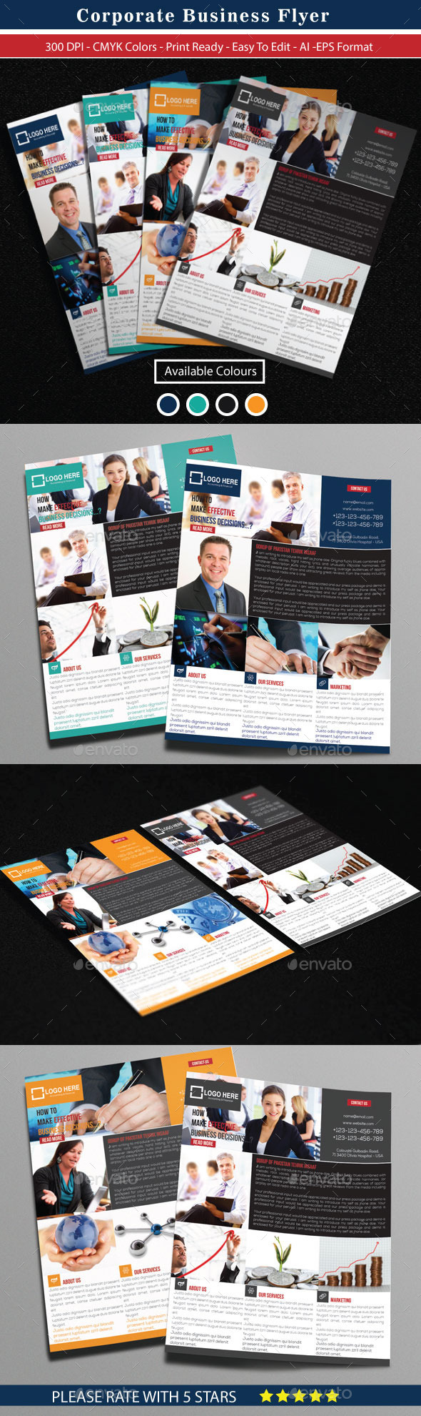 GraphicRiver Modern Corporate Business Flyer 10654764