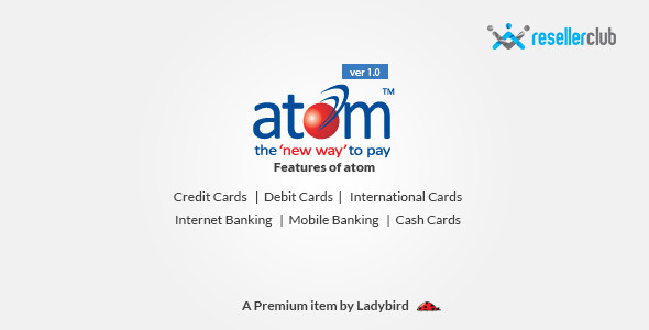 CodeCanyon Atom Payment gateway for Reseller Club 10654841
