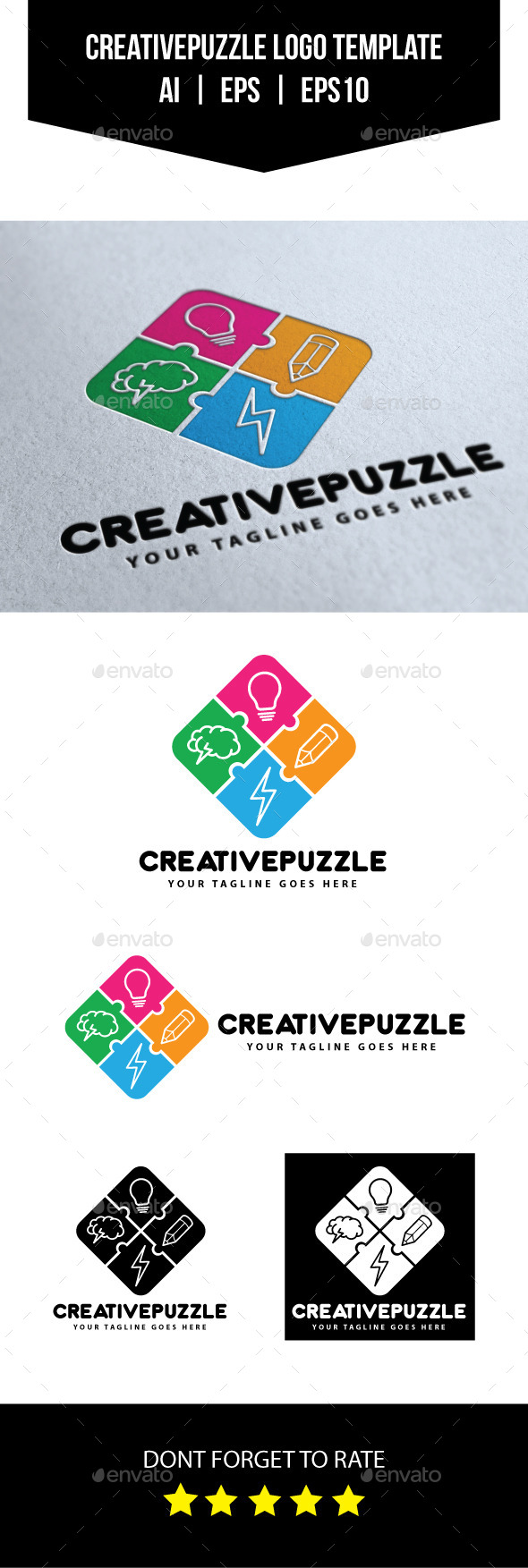 GraphicRiver Creative Puzzle Logo Template 10654846