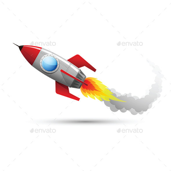 GraphicRiver Rocket Flying 2 10654854