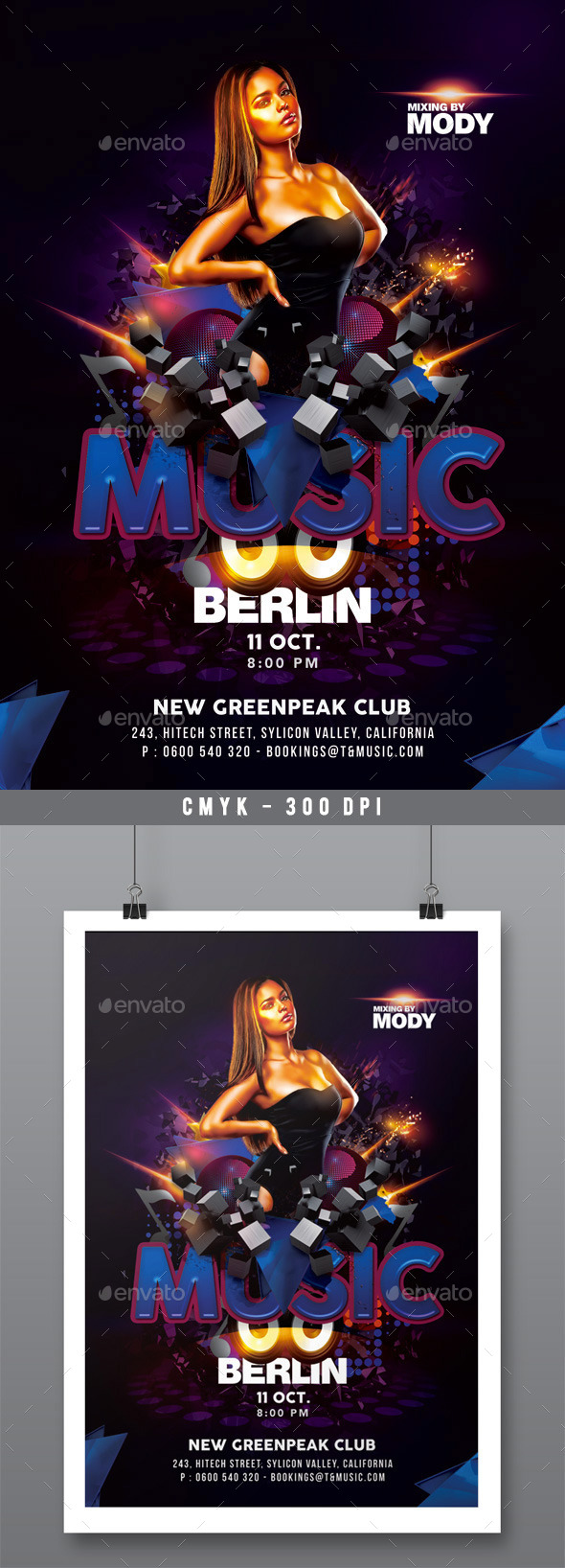 GraphicRiver Ultra Modern Techno Music Party In Club 10580591