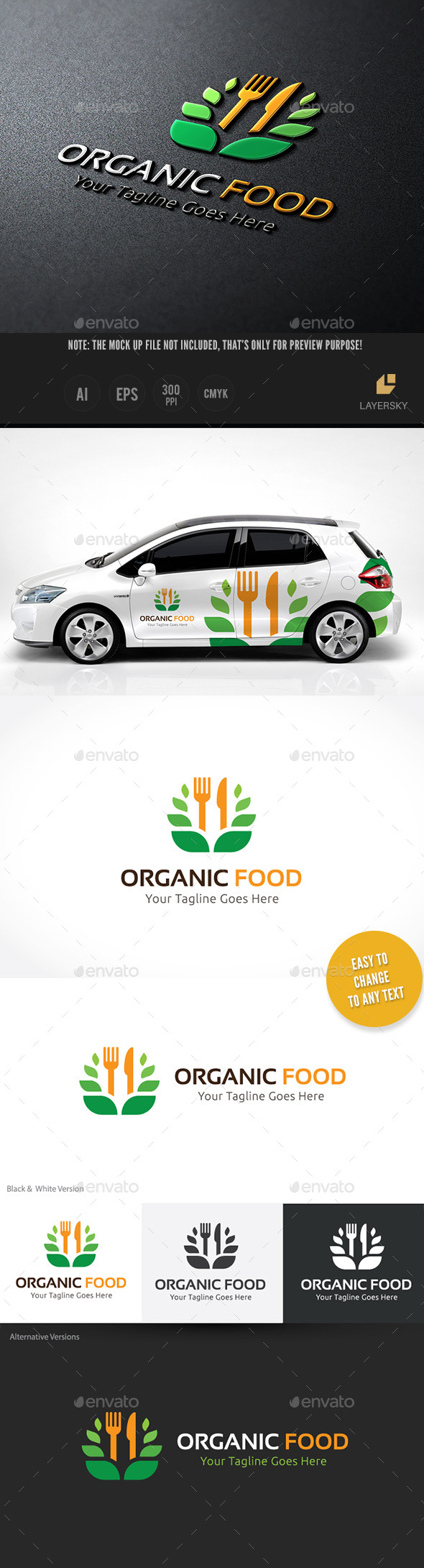 GraphicRiver Organic Food 10654886