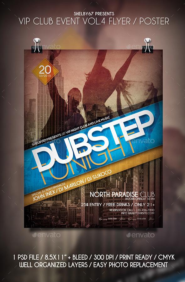 GraphicRiver VIP Club Event Flyer Poster Vol.4 10654916