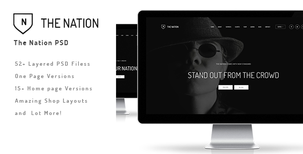 ThemeForest The Nation Business and Creative PSD 10595104