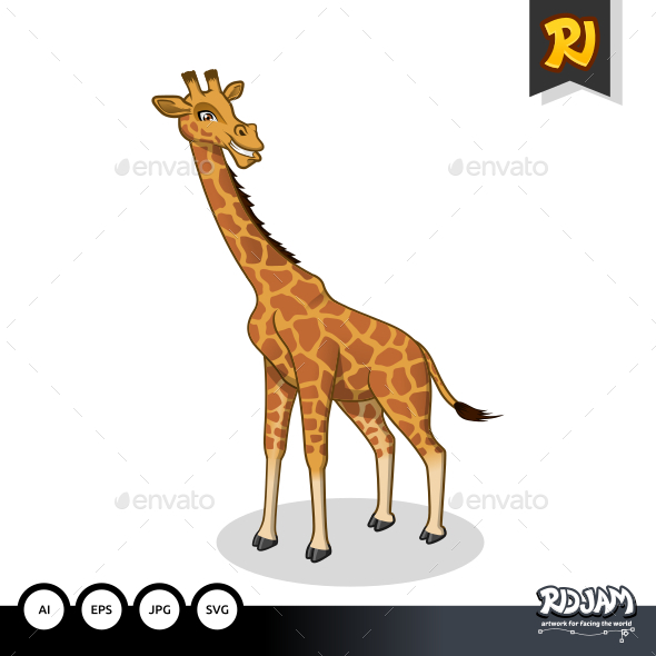 GraphicRiver Giraffe Cartoon 10640623