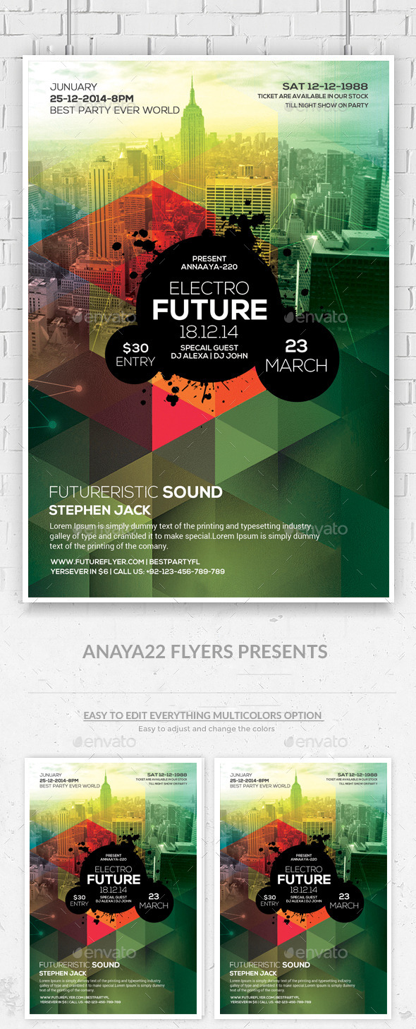 GraphicRiver Modern City Flyer Poster Psd Template 10655590