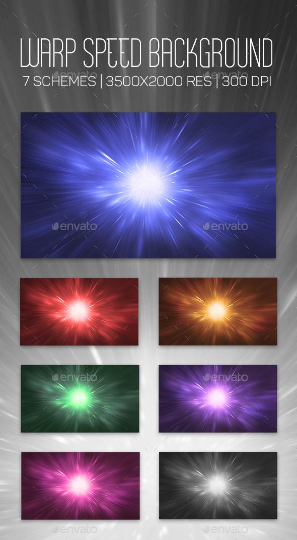 GraphicRiver Warp Speed Background 10655633