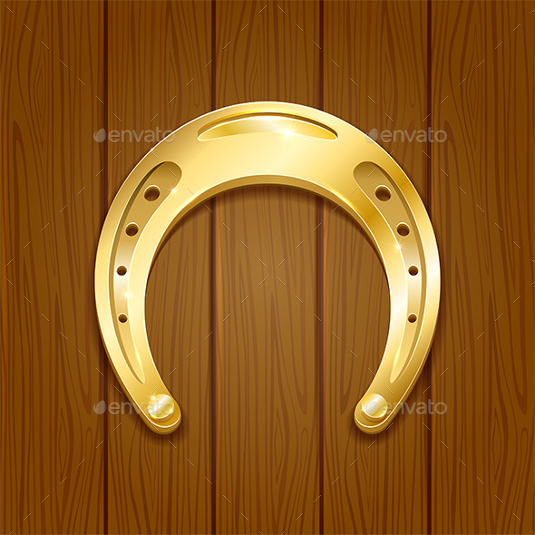 GraphicRiver Horseshoe on Wooden Background 10655637