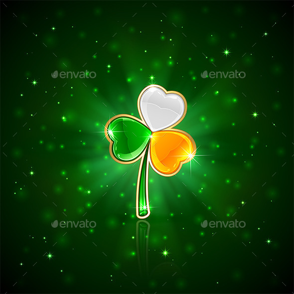 GraphicRiver Shiny Clover Leaf 10655644