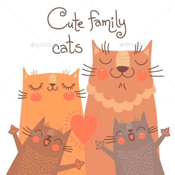 GraphicRiver Cats Family 10655671