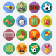 Soccer Flat Icon Set - GraphicRiver Item for Sale