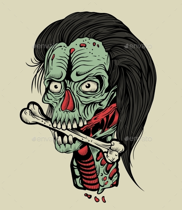 GraphicRiver Zombie with a Bone 10655904