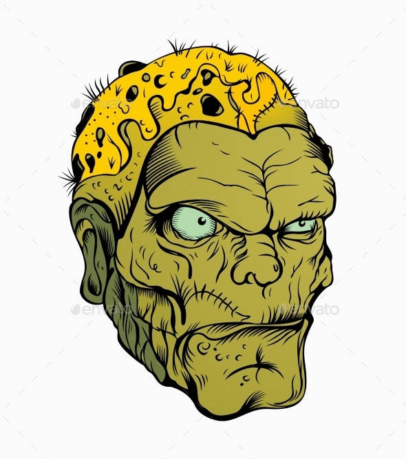 GraphicRiver Zombie Head 10655910