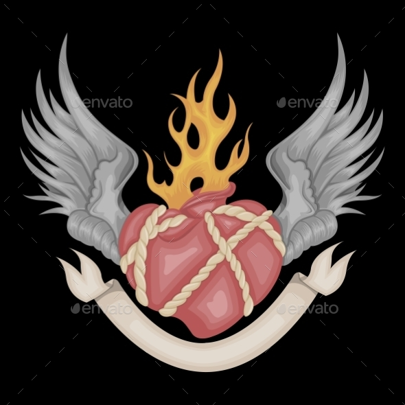 GraphicRiver Heart and Wings 10656001