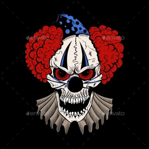 GraphicRiver Evil Clown 10656121