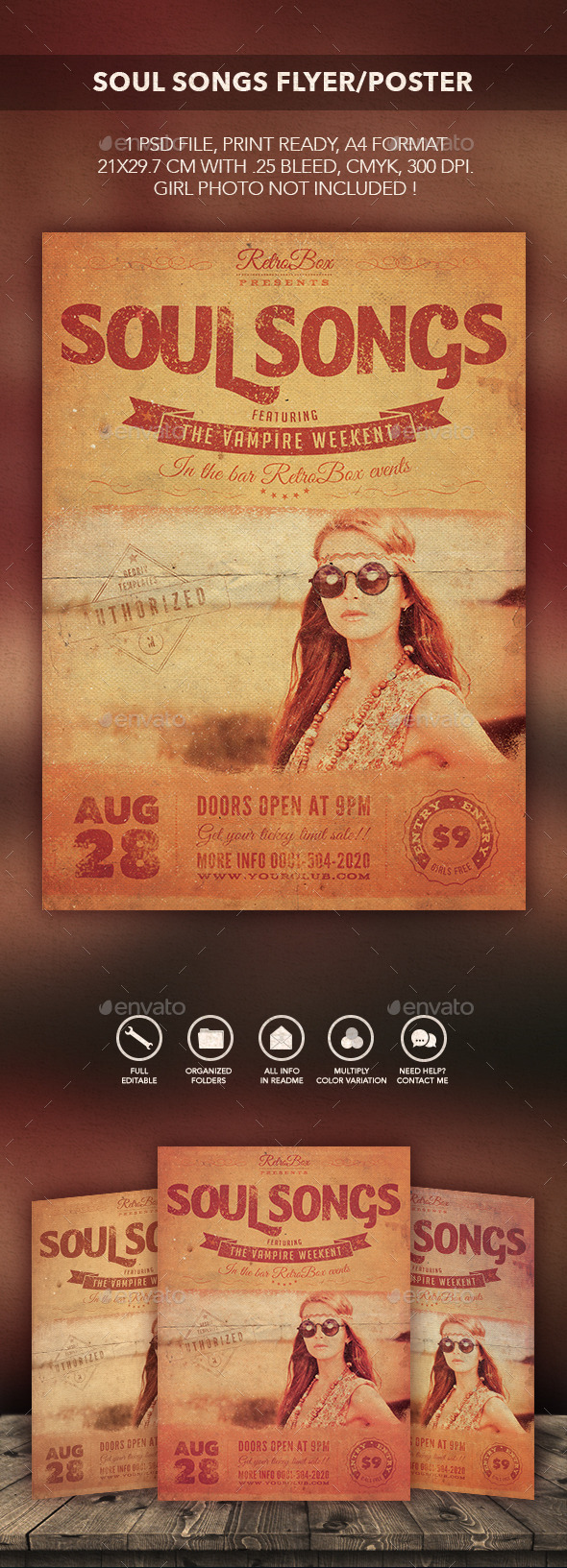 GraphicRiver Soul Songs Flyer Poster 10656314