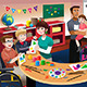 Handicapped Students in a Classroom - GraphicRiver Item for Sale