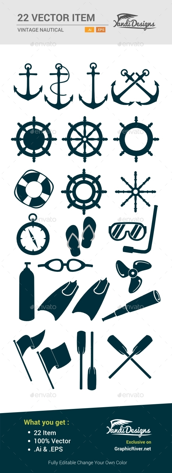 GraphicRiver Vintage Nautical Item 10656680