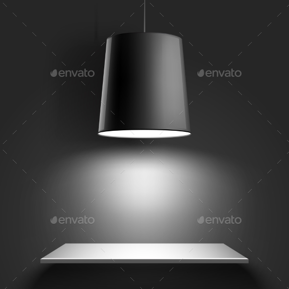 GraphicRiver Black Ceiling Lamp 10656782