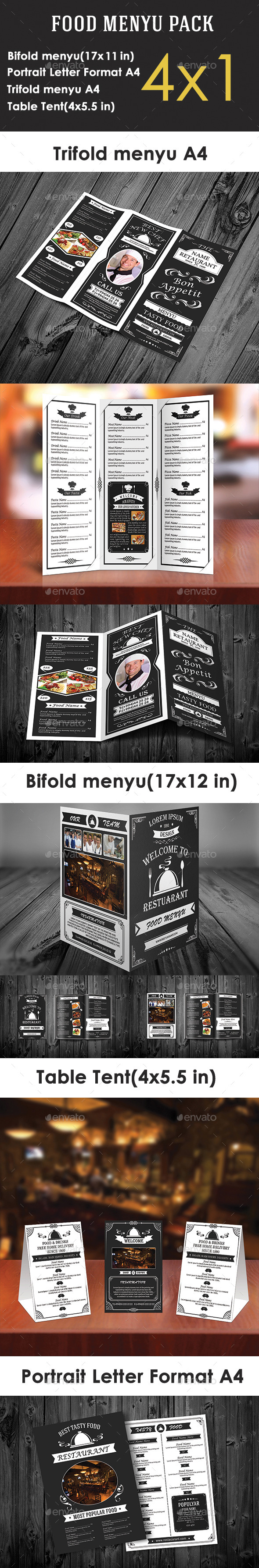 GraphicRiver Retro Food Menu Pack 10656800