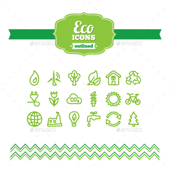 GraphicRiver Hand Drawn Eco Icons 10656878