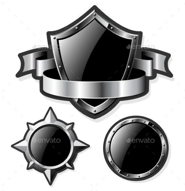GraphicRiver Steel Shields 10657105