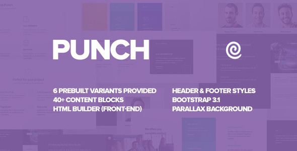 ThemeForest Punch Landing Page Template with Pagebuilder 10429804