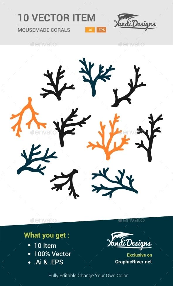 GraphicRiver Corals Vector 10657146