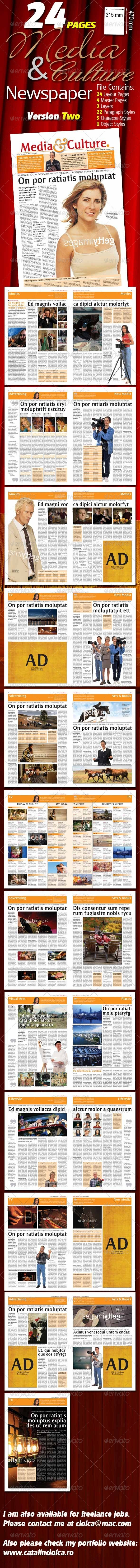 GraphicRiver 24 Pages Media & Culture Newspaper Version Two 1072360