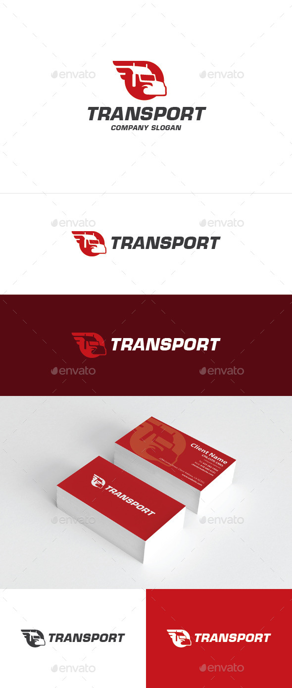 GraphicRiver Transport Logo 10636379