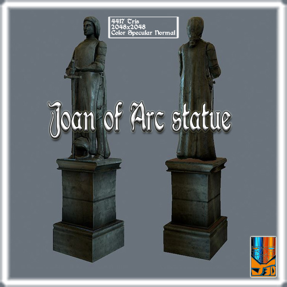 3DOcean Joan of Arc statue 9085554
