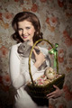 happy girl with tender rabbit - PhotoDune Item for Sale