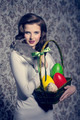 easter woman with rabbit - PhotoDune Item for Sale