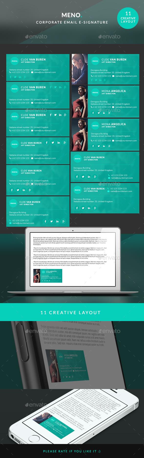 GraphicRiver Corporate E-signature Meno 10657457