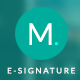 Corporate E-signature - Meno - GraphicRiver Item for Sale