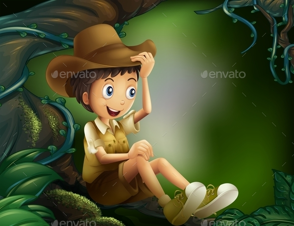 GraphicRiver Boy in Forest 10657543