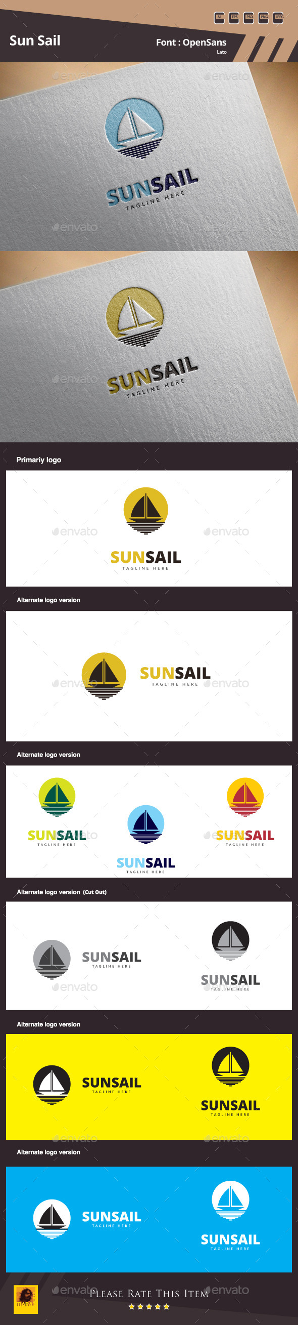 GraphicRiver Sun Sail Logo Template 10657763